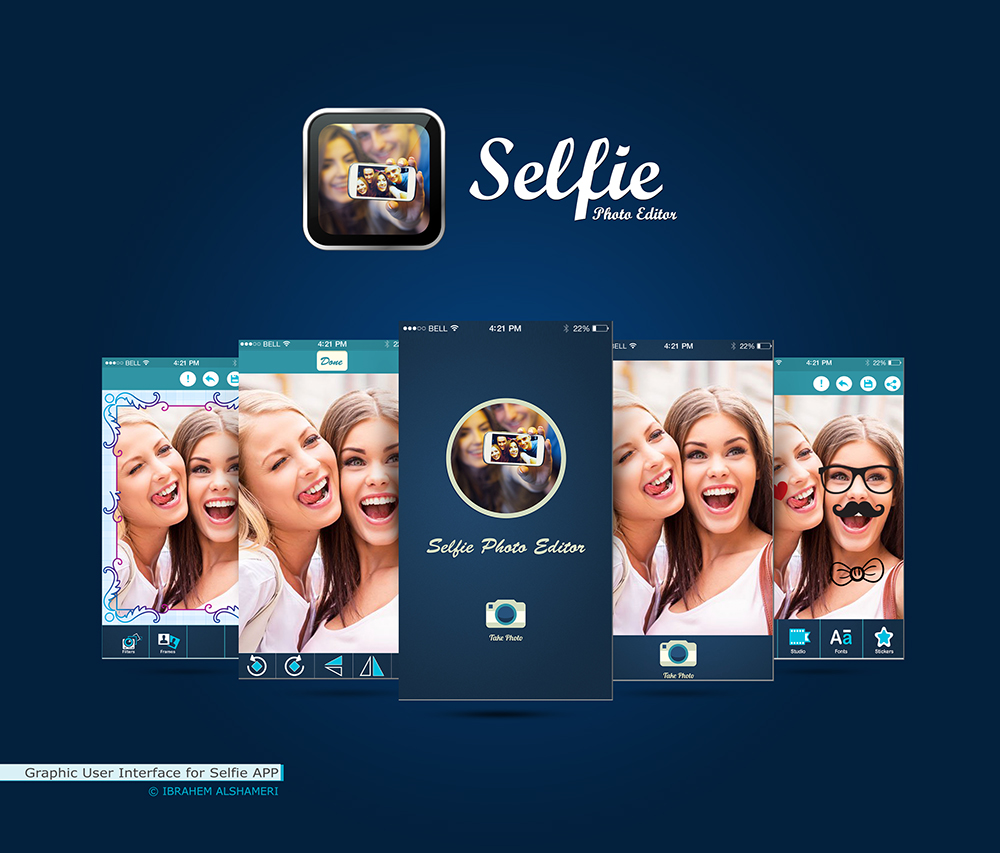 Graphic-User-Interface-for-Selfie-APP